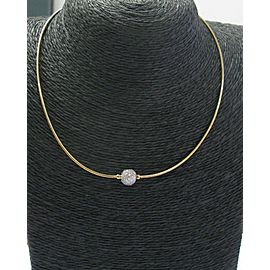 "Tiffany & Co 18Kt/Platinum Etoile Diamond Ball Necklace 1.00Ct 16"""