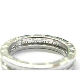Bulgari B.Zero 1 Diamond Ring 18Kt White Gold Size 59 US 9 .75Ct