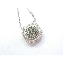 """Fine Levian Multi Color NATURAL Diamond Square Pendant Necklace 18"""" .42Ct"""