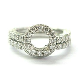 Platinum Diamond Semi Mount Halo Ring .80Ct F-VS1 ( .50Ct-.75Ct 7mm)