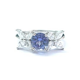 Tiffany & Co Tanzanite & Diamond Ring Platinum 950 VICTORIA COLLECTION 2.26Ct