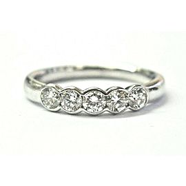 Ritani Platinum 5 Stone Diamond Band Ring .50CT PT950