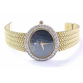 18Kt Universal Geneve Lapis & Diamond Yellow Gold Watch 1.00Ct