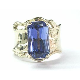 Fine Gem Tanzanite Yellow Gold Anniversary Solitaire Ring 5.43Ct