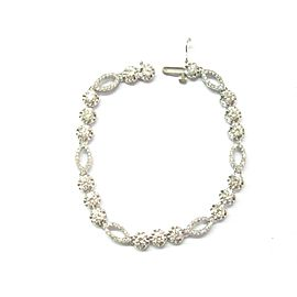 "Round Diamond Tennis Bracelet 18Kt White Gold 3.10Ct 6.5"" F-VS1"