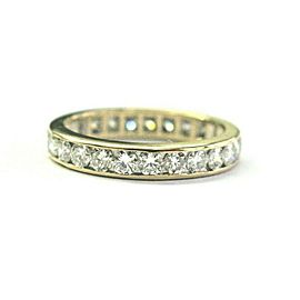 Round Brilliant Diamond Eternity Band 14Kt Yellow Gold 25-Stones 1.25Ct Size 5