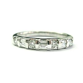 Multi Shape Diamond Ring Platinum 950 .50Ct 3.5mm SIZEABLE