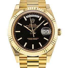 Rolex Day-Date 40mm 228238 Men's Yellow Gold Automatic Black 1 Year Warranty