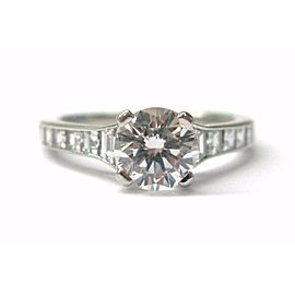 Tiffany & Co Round Diamond Engagement Ring Platinum 950 1.09Ct+.66Ct SIZEABLE