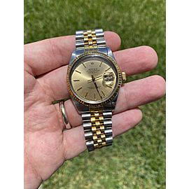 Rolex Datejust 16013 36mm Two Tone Watch With Papers