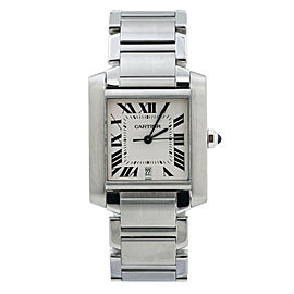 Cartier Tank Francaise 2302 Automatic Stainless-Steel 28mm Mens Watch