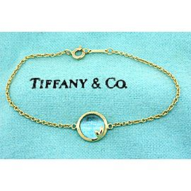 Tiffany & Co. Bracelet Olive Leaf Blue Topaz Paloma Picasso 18k Yellow Gold 6.25