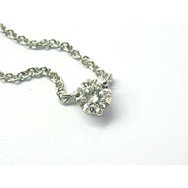 "Kwait Round Diamond Pendant Necklace Platinum 950 .57Ct 16"""