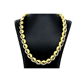 "Carrera Y Carrera Panther Diamond Necklace 18k Yellow gold 17"" 107g Heavy"