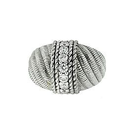Judith Ripka Sterling Silver 7 Stone Ring