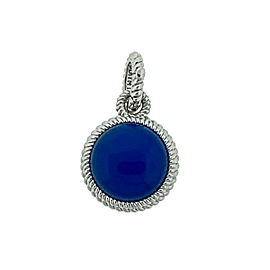 Judith Ripka Sterling Silver Round Blue Pendant