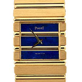 Piaget Polo 7131C701 Lapis Dial 18K Gold Quartz Men's Watch with Box 25mm