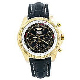 Breitling Bentley 6.75 K44362 18k Yellow Gold Automatic Mens Watch 48MM