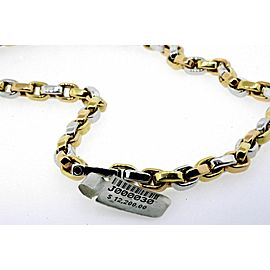 """Roberto Coin 18k Necklace Chain Yellow Gold 18"""" Two Tone Link $12,200"""