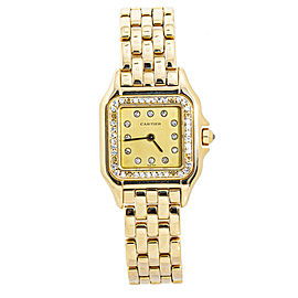 Cartier Panthere 18k Yellow Gold Diamond Bezel and Dial 22MM