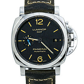Panerai Lumimor PAM01535 GMT Automatic Watch with Box & Paper 42MM