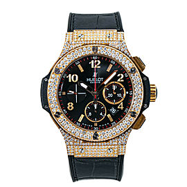 Hublot Big Bang 301.PX.130.RX.174 Diamonds 18K Rose Gold Mens Watch 45MM