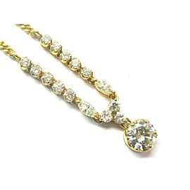 """22Kt Round & Marquise Diamond Necklace .82Ct+.18Ct+.45Ct G-VS2 16"""""""