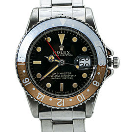 Rolex GMT Master 1675 1966 Gilt Watch Box Double Punched Papers Service Card