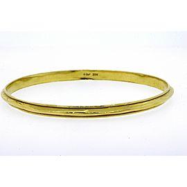 "Denise Roberge Bangle Bracelet 22k Yellow Gold 8.5"" Interior 32.3g Raised Spine"