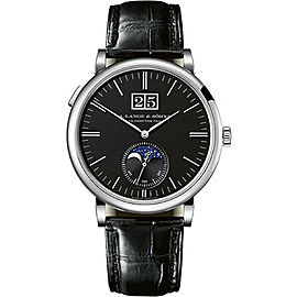 A.Lange & Sohne Saxonia Moonphase 384.029 18K Automatic Watch 41mm Box&Papers