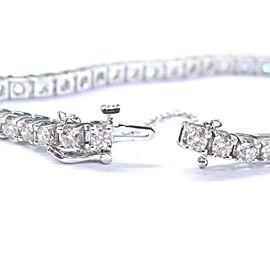 Round Cut NATURAL Diamond Tennis Bracelet 14KT White Gold 42-Stones 5.15Ct