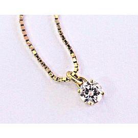Georg Jensen 18Kt Round Cut Diamond Solitaire Yellow Gold Necklace .25Ct