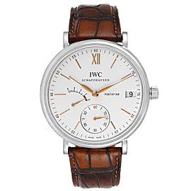 IWC Portofino 8 Days Power Reserve 45mm Silver Dial Mens Watch IW510103