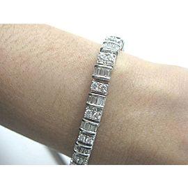 Fine Multi Shape Diamond Tennis Bracelet White Gold 14KT 5.50Ct