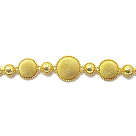 22Kt Circular Yellow Gold Handmade Greek Designer Bracelet 7""