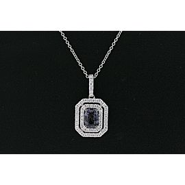 Levian Pendant Gray Spinel Vanilla Diamonds 14k White Gold