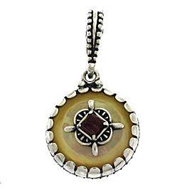 Judith Ripka 925 Sterling Silver Red Agate Pendant
