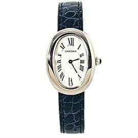 Cartier Baignoire 1955 18k White Gold Quartz Ladies Watch 23mm