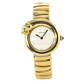 Cartier Panthere Figurative Lakarda W25045R4 18K Yellow Gold Off-White Dial 28mm
