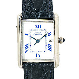 Cartier Mustde Cartier Tank 2414 925 Silver White Dial Unisex Watch 25mm