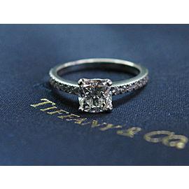 Tiffany & Co Platinum Novo Diamond Engagement Ring Size 6 H-VVS2 1.16CT