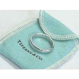 Tiffany & Co Lucida Platinum Wedding Band Ring Size 8.5 4.5mm