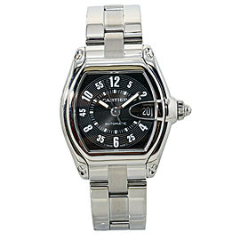 Cartier Roadster W62002V3 Black Dial Stainless Steel Automatic Mens Watch 37mm