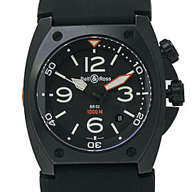 Bell & Ross BR02-20 Box & Papers Professional Diver Automatic Rubber 46mm