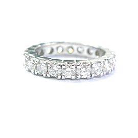 Fine Round Cut Diamond 20-Stone White Gold Eternity Band Ring Size 6 1.80Ct