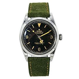 Rolex Explorer 1016 Tropical Gilt Dial Automatic Mens Watch 36MM