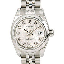 Rolex Datejust 179160 Womens Automatic Watch Factory Diamond Dial Stainless 26mm