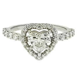 14k White Gold .90 H VS2 Heart Shape Diamond Engagement Ring GIA Certificate