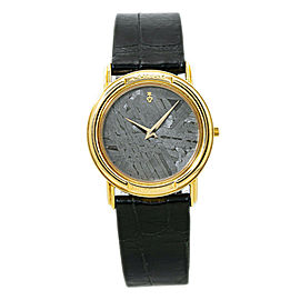 Corum Meteorite 50.450 56 18K Yellow Gold Bezel Unisex Quartz Watch 31MM