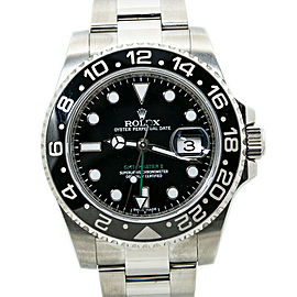 Rolex GMT-Master II 116710LN Stainless Steel Mens Watch 40MM 2016 Box & Papers